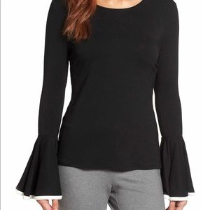 NWOT Vince Camuto long bell sleeve top